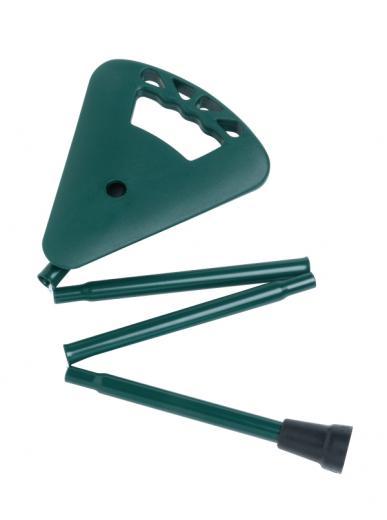Faltbarer extra kurzer Stock mit Sitz grün