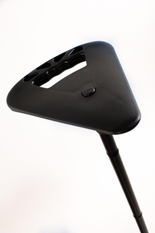 Gehstock mit Sitz schwarz