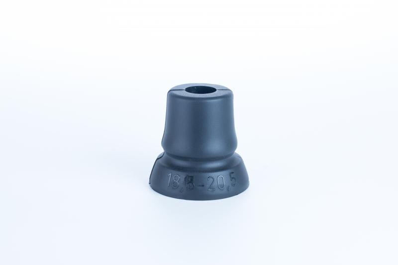 Sitzstock extra kurz faltbar schwarz mit extra breitem Gummipuffer