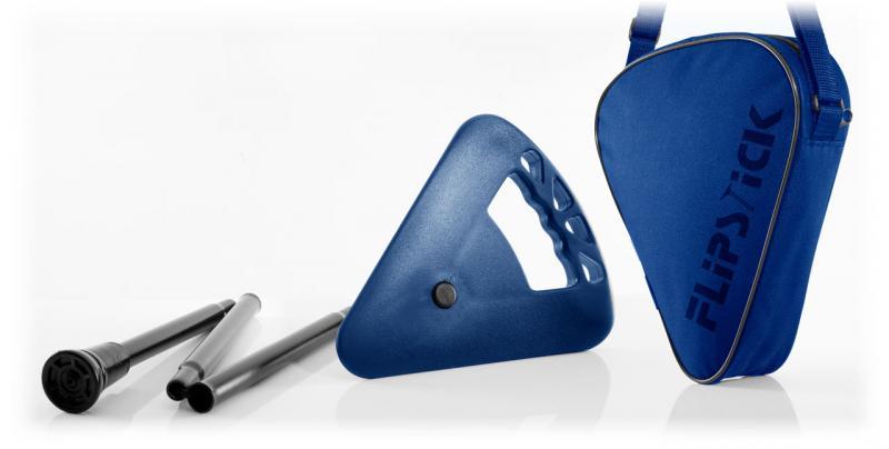 Sitzstock faltbar hell-blau mit Tasche