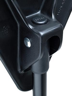Sitzstock faltbar und höhenverstellbar Farbe schwarz inkl. Umhängetasche