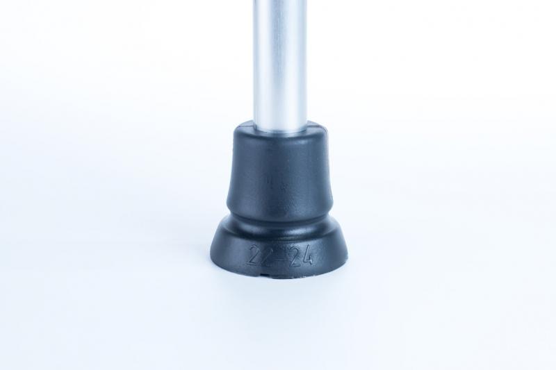 Wanderstock mit Sitz schwarz höhenverstellbar mit Antirutschfuß 22-24mm