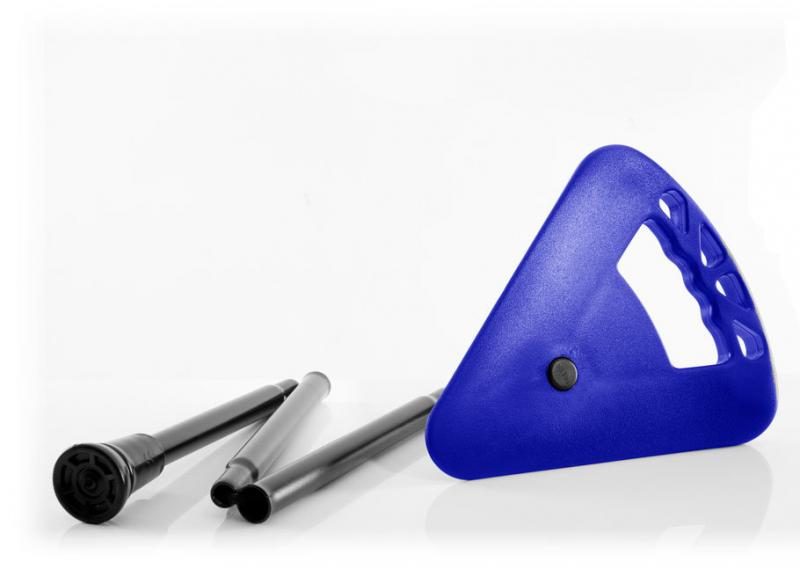 Sitzstock faltbar und verstellbar hell-blau mit Tasche