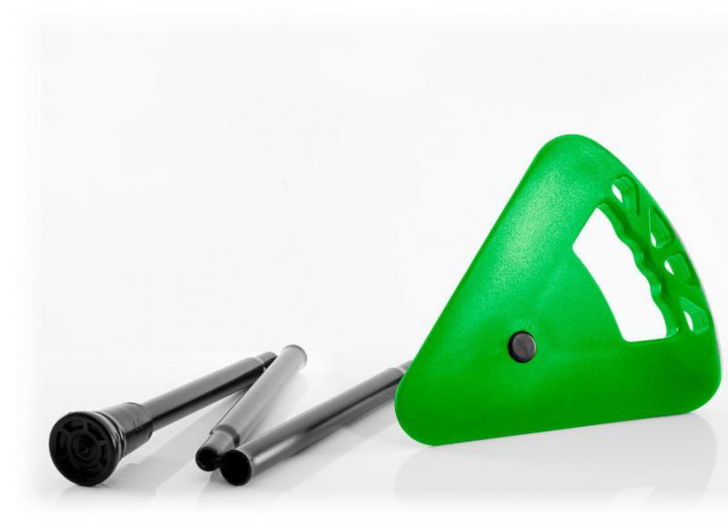 Flipstick Sitzstock extra kurz faltbar hellgrün