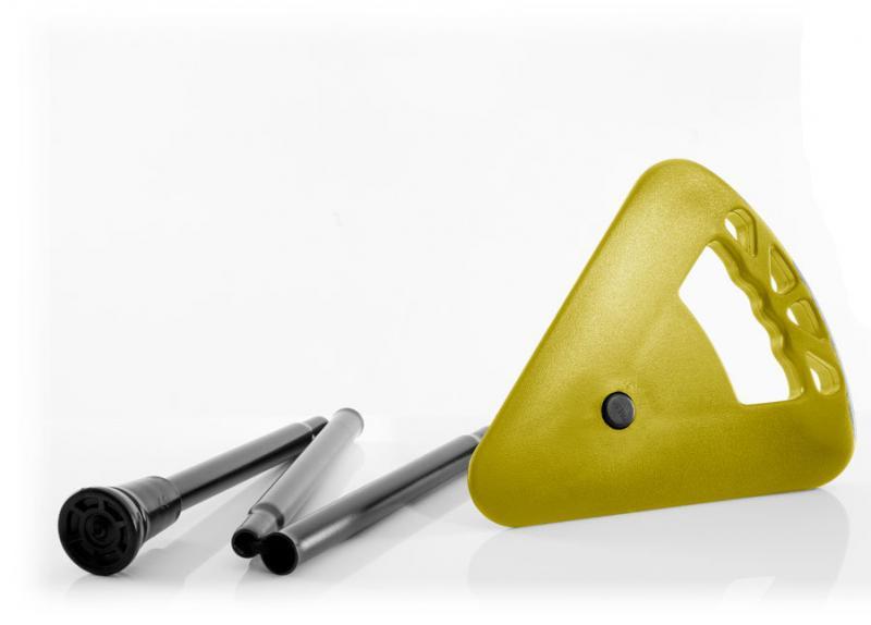 Sitzstock faltbar gelb mit Tasche