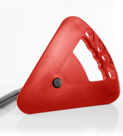 Sitzstock extra kurz faltbar schwarz-rot