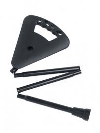 Flipstick Sitzstock faltbar und verstellbar schwarz inkl. Ersatzfuss