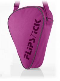 Extra kurzer Sitzstock faltbar mit Tasche pink